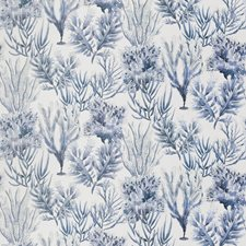 Blue Tone Novelty Decorator Fabric by Vervain