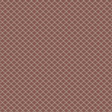 Cranberry Small Scale Woven Decorator Fabric by Vervain