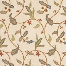 Teastain Embroidery Decorator Fabric by Vervain
