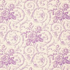 Lilac Floral Decorator Fabric by Vervain