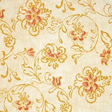 Curry Floral Decorator Fabric by Vervain