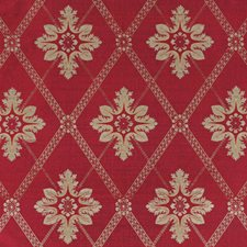 Cerise Floral Decorator Fabric by Vervain