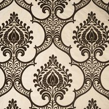 Coffee Bean Damask Decorator Fabric by Vervain