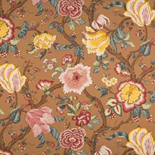 Sangria Floral Decorator Fabric by Vervain