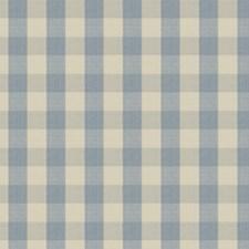 Aqua Check Decorator Fabric by Vervain