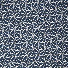 Blue Contemporary Decorator Fabric by Stroheim