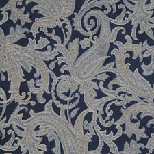 Indigo Paisley Decorator Fabric by Trend