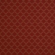 Crimson Small Scale Woven Decorator Fabric by Trend