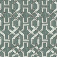 Teal Lattice Decorator Fabric by Trend