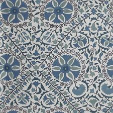 Indigo/Ivory Decorator Fabric by Schumacher