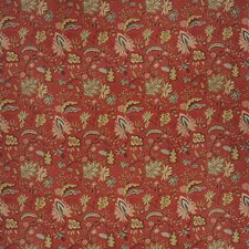 Rural Red Floral Decorator Fabric by Fabricut