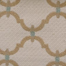Natural/teal Decorator Fabric by Duralee