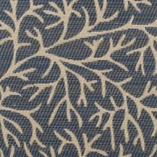 Blue Leaf Decorator Fabric by Duralee
