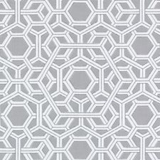 Dove Geometric Decorator Fabric by Duralee
