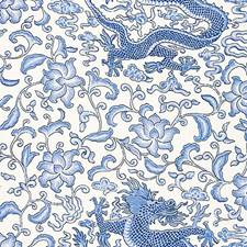 Hyacinth Blue Decorator Fabric by Scalamandre