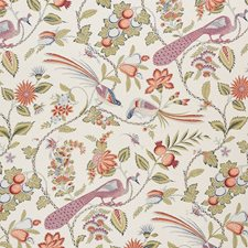 Persimmon/amp/Pink Decorator Fabric by Schumacher