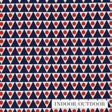 Navy/Red Decorator Fabric by Schumacher