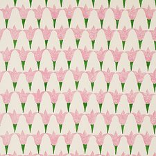 Rose/Grass Decorator Fabric by Schumacher