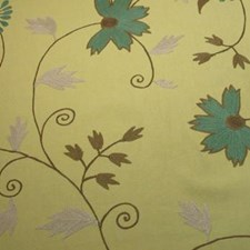 Citron Turquois Decorator Fabric by B. Berger