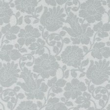 Aqua Floral Medium Decorator Fabric by Highland Court