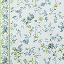 Sea Green Floral Medium Decorator Fabric by Duralee