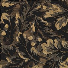 Black/Beige Botanical Decorator Fabric by Kravet