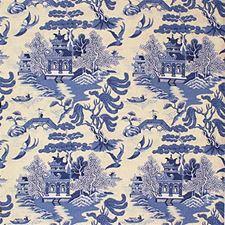Blue On Ethnic Decorator Fabric by Lee Jofa