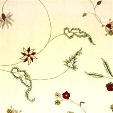 Red Crewel Decorator Fabric by Lee Jofa