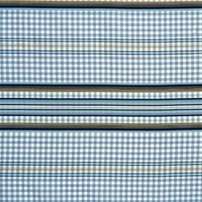 Blue/Marine Stripes Decorator Fabric by Lee Jofa