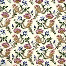 Cream Print Decorator Fabric by Lee Jofa