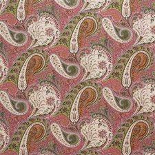 Pink/Apple Paisley Decorator Fabric by Lee Jofa