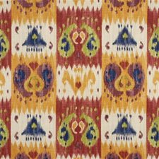 Red Ikat Decorator Fabric by Lee Jofa