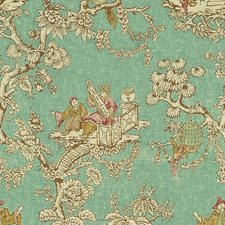 Turquoise Asian Decorator Fabric by Lee Jofa