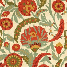 Merlot/Olive Embroidery Decorator Fabric by Lee Jofa