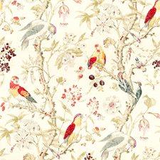 Magenta/Blue Print Decorator Fabric by Lee Jofa
