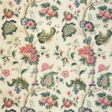 Pink/Green Jacobeans Decorator Fabric by Lee Jofa