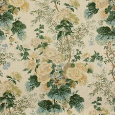 Lemon/Aqua Botanical Decorator Fabric by Lee Jofa