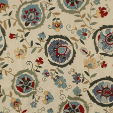 Slate/Clay Embroidery Decorator Fabric by Lee Jofa