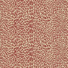 Claret Animal Skins Decorator Fabric by Lee Jofa