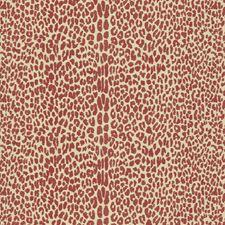 Claret Animal Skins Decorator Fabric by Lee Jofa