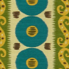 Mallard/Leaf Ikat Decorator Fabric by Lee Jofa