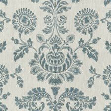 Dusk Blue Damask Decorator Fabric by Lee Jofa
