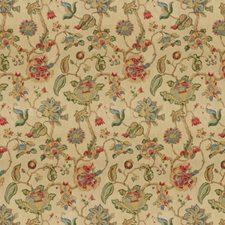 Ruby/Blue Jacobeans Decorator Fabric by Lee Jofa