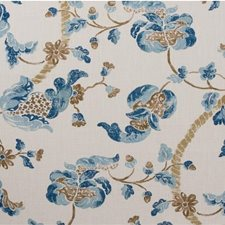 Blue/Umber Jacobeans Decorator Fabric by Lee Jofa