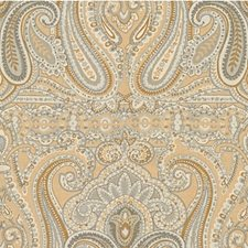 Beige/Grey Paisley Decorator Fabric by Lee Jofa