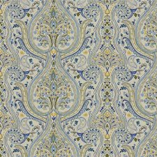Dill/Cobalt Paisley Decorator Fabric by Lee Jofa