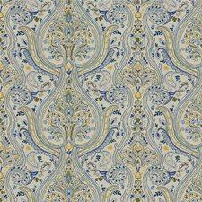 Dill/Cobalt Paisley Decorator Fabric by Lee Jofa