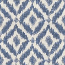 Ivory/Oyster/Sapphire Diamond Decorator Fabric by Lee Jofa