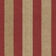Rhubarb/Oro Stripes Decorator Fabric by Lee Jofa