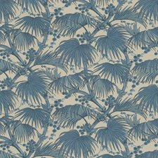 Blue Tropical Decorator Fabric by Lee Jofa